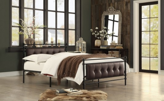 Jayla Full Metal Platform Bed Available Online in Dallas Fort Worth Texas
