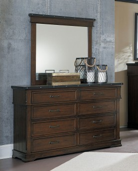 Homelegance Schleiger Brown Mirror Available Online in Dallas Fort Worth Texas