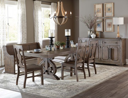 Homelegance Toulon 5pc Dark Oak Dining Table Set Available Online In Dallas  Fort Worth Texas