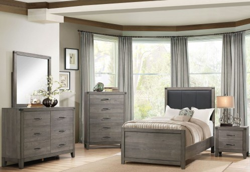 Homelegance Woodrow 5pc Twin Upholstered Panel Bedroom Group Available Online in Dallas Fort Worth Texas