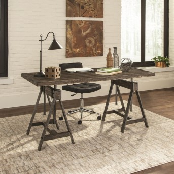 Coaster Deponte Burnished Cognac Adjustable Writing Desk Available Online in Dallas Fort Worth Texas