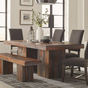 Coaster Binghamton Grey Sheesham Dining Table Available Online In Dallas Fort Worth Texas