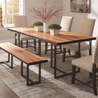 Coaster Suthers Natural Honey Dining Table Available Online in Dallas Fort Worth Texas