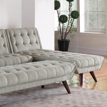Coaster Natalia Dove Grey Mid Century Modern Convertible Chaise Available  Online In Dallas Fort Worth