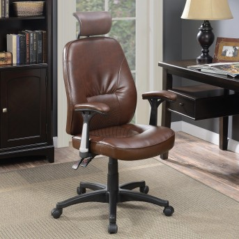 Coaster Newburgh Brown Office Chair Available Online in Dallas Fort Worth Texas