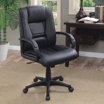 Coaster Florance Black Vinyl Office Chair Available Online in Dallas Fort Worth Texas