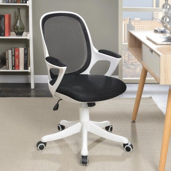Coaster Zinnia White And Black Office Chair Available Online In Dallas Fort  Worth Texas