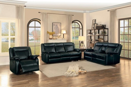 Homelegance Jude 2pc Black Double Reclining Sofa & Loveseat Set Available Online in Dallas Fort Worth Texas