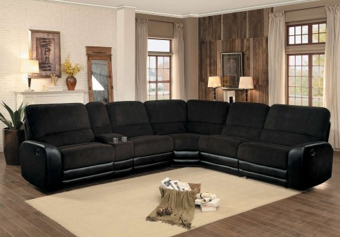 Homelegance Ynez 6pc Chocolate Sectional Set Available Online in Dallas Fort Worth Texas