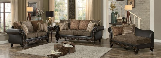 Homelegance Thibodaux 2pc Dark Brown Sofa and Loveseat Set Available Online in Dallas Fort Worth Texas