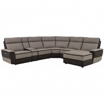 Homelegance Laertes 6pc Taupe Grey Right Arm Facing Chaise Sectional Set Available Online in Dallas Fort Worth Texas