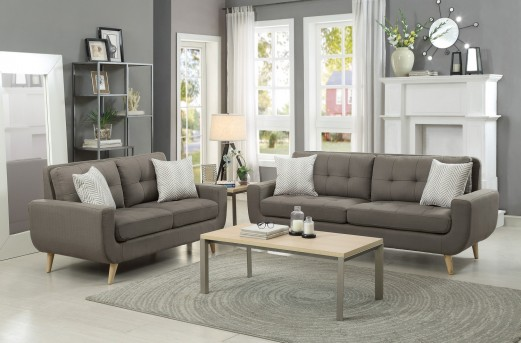 Homelegance Deryn 2pc Grey Sofa & Loveseat Set Available Online in Dallas Fort Worth Texas