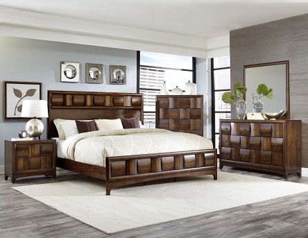 Homelegance Porter 5pc Warm Walnut Queen Bedroom Group Available Online in Dallas Fort Worth Texas