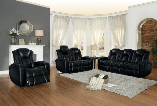 Homelegance Madoc 2pc Black Power Double Reclining Sofa & Loveseat Set Available Online in Dallas Fort Worth Texas