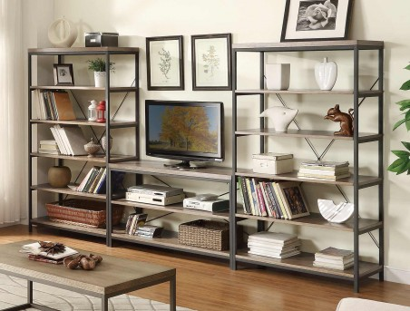 Homelegance Daria 3pc Grey Wall Unit Available Online in Dallas Fort Worth Texas