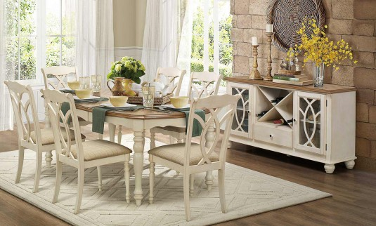 Homelegance Azalea 48pc Antique White Dining Table Set Dallas TX Simple Antique White Dining Room