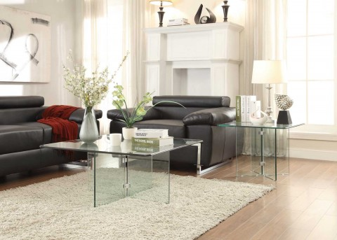 Homelegance Allouette 3pc Clear Coffee Table Set Available Online in Dallas Fort Worth Texas