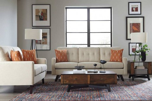 Coaster Montana 2pc Linen Patterned Sofa & Loveseat Set Available Online in Dallas Fort Worth Texas