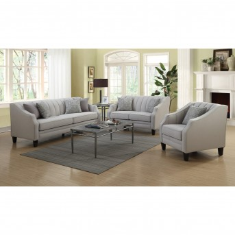 Coaster Loxley 2pc Grey Sofa & Loveseat Set Available Online in Dallas Fort Worth Texas