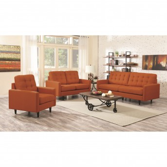 Coaster Kesson 2pc Orange Sofa & Loveseat Set Available Online in Dallas Fort Worth Texas