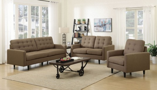 Coaster Kesson 2pc Brown Sofa & Loveseat Set Available Online in Dallas Fort Worth Texas