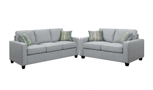 Coaster Brownswood 2pc Grey Sofa & Loveseat Set Available Online in Dallas Fort Worth Texas