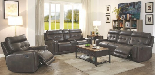 Coaster Trenton 2pc Dark Brown Motion Sofa & Loveseat Set Available Online in Dallas Fort Worth Texas