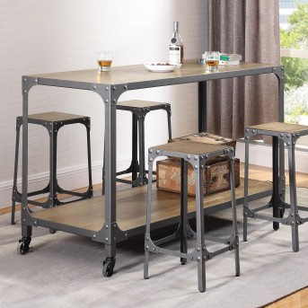 Coaster Serena 5pc Rustic Bar Unit Available Online in Dallas Fort Worth Texas