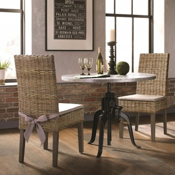 Coaster Rhea 3pc Zinc Adjustable Height Dining Table Set Available Online in Dallas Fort Worth Texas