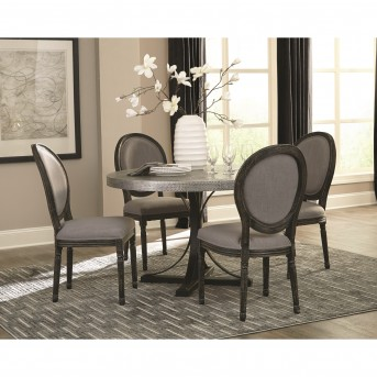 Coaster Rochelle 5pc Zinc Round Dining Table Set Available Online In Dallas  Fort Worth Texas