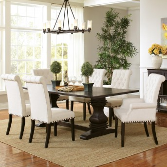 Coaster Parkins 7pc Espresso Rectangular Dining Table Set Available Online in Dallas Fort Worth Texas