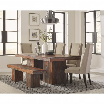 Coaster Binghamton 5pc Grey Sheesham Dining Table Set Available Online in Dallas Fort Worth Texas