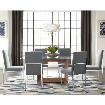 Coaster Jackson 7pc Grey Dining Table Set Available Online in Dallas Fort Worth Texas