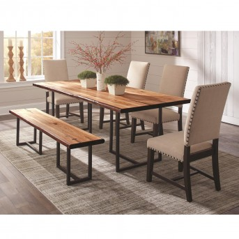 Coaster Suthers 5pc Beige Dining Table Set Dallas TX | Dining Room ...