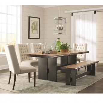 Coaster Marquette 5pc Brown Rectangular Dining Table Set Available Online in Dallas Fort Worth Texas