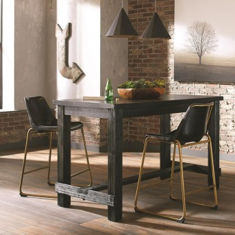 Coaster Bynum 3pc Black Counter Height Bar Unit Available Online in Dallas Fort Worth Texas