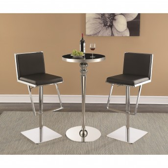 Coaster Dixon 3pc Black and Chrome Bar Unit Available Online in Dallas Fort Worth Texas