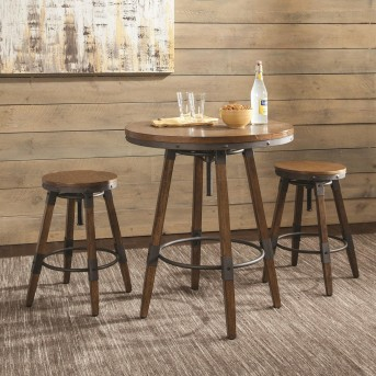 Coaster Hornell 3pc Weathered Oak Bar Unit Available Online in Dallas Fort Worth Texas