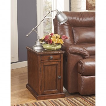 Ashley Laflorn Dark Brown Chair Side Table Available Online in Dallas Fort Worth Texas