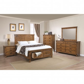 Coaster Brenner 5pc Rustic Honey King Panel Storage Bedroom Group Available Online in Dallas Fort Worth Texas