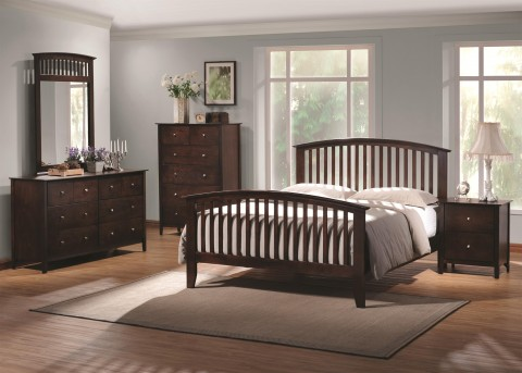 Coaster Tia 5pc Cappuccino King Panel Bedroom Group Available Online in Dallas Fort Worth Texas