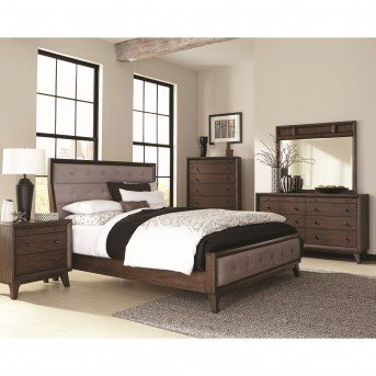 Coaster Bingham 5pc Brown Oak Queen Panel Bedroom Group Available Online in Dallas Fort Worth Texas