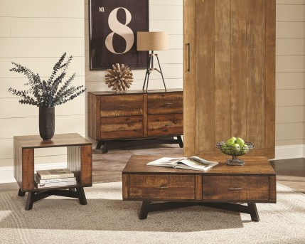 Coaster Scott 3pc Tobacco and Black Sand Off Coffee Table Set Available Online in Dallas Fort Worth Texas