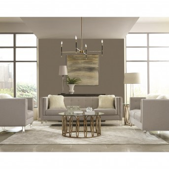 Coaster Scott 3pc Chocolate Chrome Coffee Table Set Available Online in Dallas Fort Worth Texas