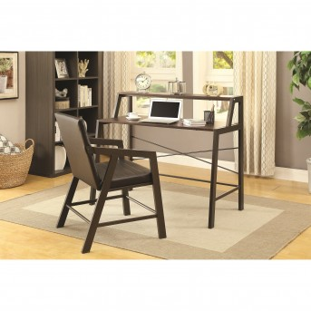 Coaster Newburgh 2pc Chestnut and Gunmetal Office Suite Available Online in Dallas Fort Worth Texas
