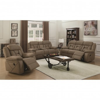 Coaster Houston 2pc Tan Reclining Sofa & Loveseat Set Available Online in Dallas Fort Worth Texas