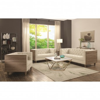 Coaster Fairbanks 2pc Weathered Taupe Sofa & Loveseat Set Available Online in Dallas Fort Worth Texas