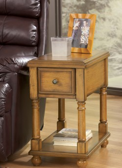 Ashley Breegin Oak Chair Side Table Available Online in Dallas Fort Worth Texas