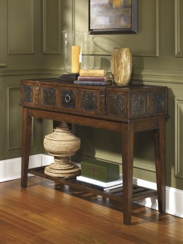 Ashley McKenna Sofa Table Available Online in Dallas Fort Worth Texas