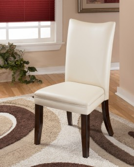 Ashley Charrell Ivory Side Chair Available Online in Dallas Fort Worth Texas